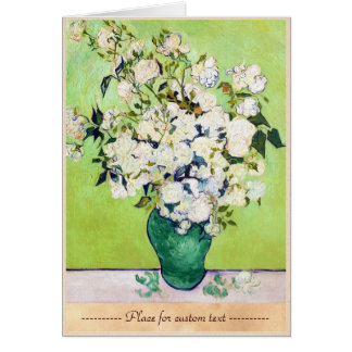 Vase with Roses Vincent Van Gogh painting Note Card