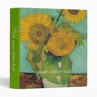 Vase with three sunflowers, Vincent van Gogh 3 Ring Binder