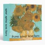 Vase with Twelve Sunflowers by Vincent van Gogh 3 Ring Binders