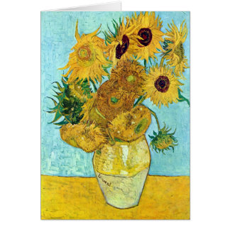 Vase With Twelve Sunflowers By Vincent Van Gogh Card