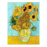 Vase With Twelve Sunflowers By Vincent Van Gogh Post Cards