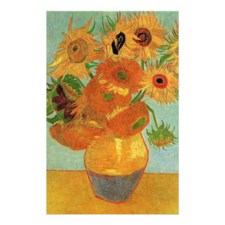 Vase with Twelve Sunflowers, Vincent van Gogh. Stationery