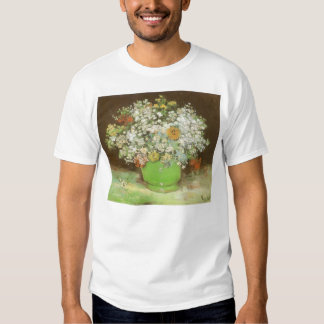 Vase with Zinnias and Flowers by Vincent van Gogh Tee Shirt