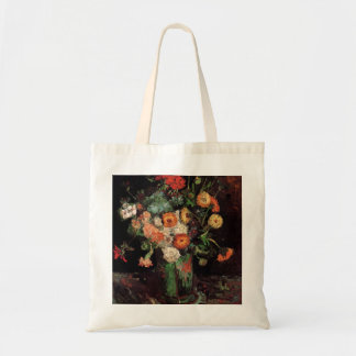 Vase with Zinnias and Geraniums by van Gogh Tote Bag