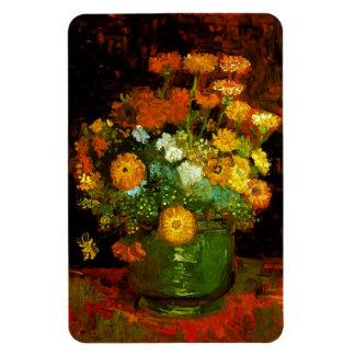 Vase with Zinnias Van Gogh Fine Art Magnet