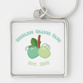 Vasectomy humor - fixed Silver-Colored square keychain