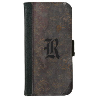 Vashoyte Faded Old Book Style 6/6s Monogram iPhone 6 Wallet Case