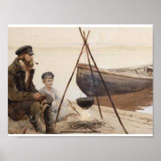 VASILY IVANOVICH NAVOZOV (Russian, 1862-1919) Rest Poster