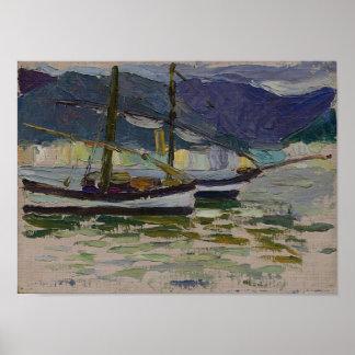 Vasily Kandinsky Fishing Boats Sestri Poster
