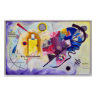Vasily Kandinsky Yellow-Red-Blue Poster