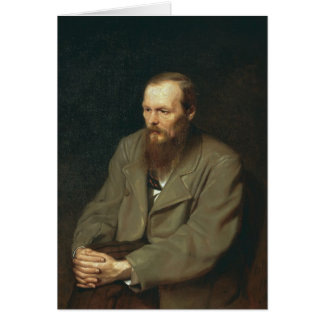 Vasily Perov-Portrait of Author Feodor Dostoyevsky Card