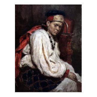 Vasily Surikov-Model in ancient russian costume Postcard