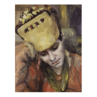 Vasily Surikov- Portrait of woman with kokoshnik Postcard