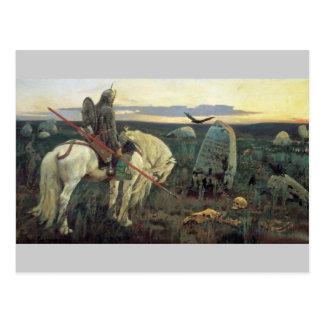 Vasnetsov Still Life Knight and Skulls Postcard