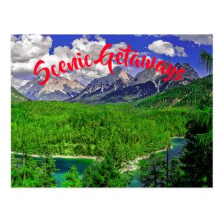 Vast Evergreen Mountain Postcard