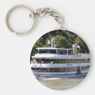 Vater Rhein tour boat, Germany Basic Round Button Keychain