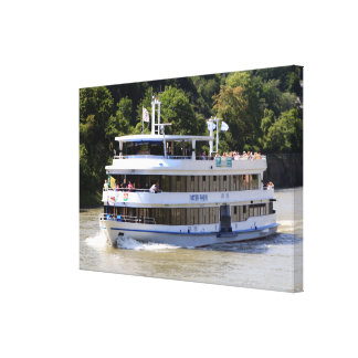 Vater Rhein tour boat, Germany Canvas Print