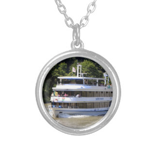 Vater Rhein tour boat, Germany Silver Plated Necklace