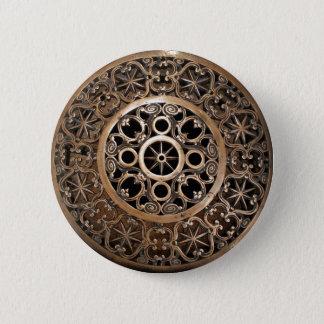Vatican ancient metal bronze steampunk mysterious 2 inch round button