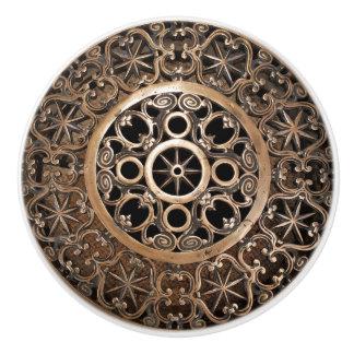 Vatican ancient metal bronze steampunk mysterious ceramic knob