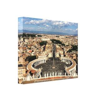 "Vatican City and Rome 14"" x 11"", 1.5"" Canvas Print"