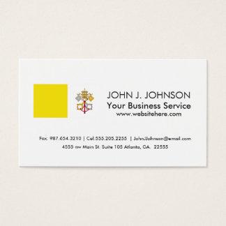 Vatican City flag Business Card
