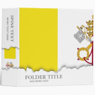 Vatican City flag Vinyl Binders