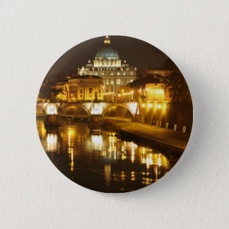 Vatican city, Rome, Italy at night 2 Inch Round Button