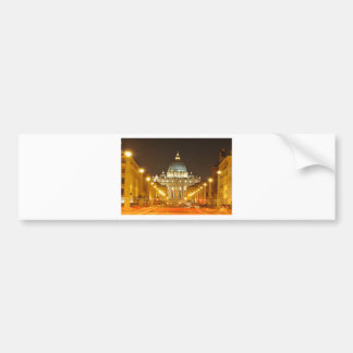 Vatican city, Rome, Italy at night Bumper Sticker
