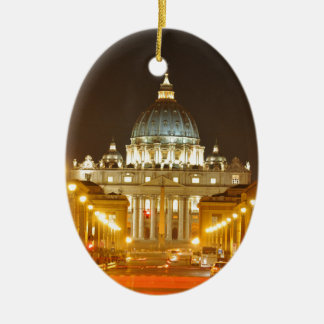 Vatican city, Rome, Italy at night Ceramic Ornament