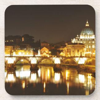 Vatican city, Rome, Italy at night Coaster