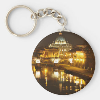 Vatican city, Rome, Italy at night Keychain