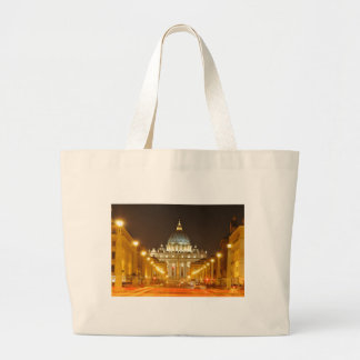 Vatican city, Rome, Italy at night Large Tote Bag