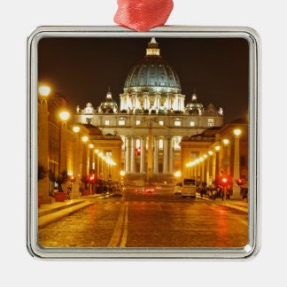 Vatican city, Rome, Italy at night Metal Ornament