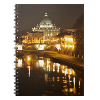Vatican city, Rome, Italy at night Notebook
