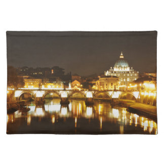 Vatican city, Rome, Italy at night Placemat