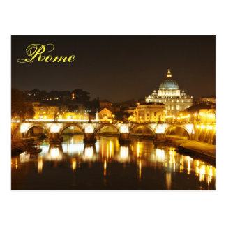 Vatican city, Rome, Italy at night Postcard