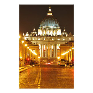 Vatican city, Rome, Italy at night Stationery