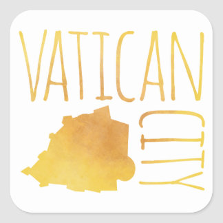 Vatican City Square Sticker