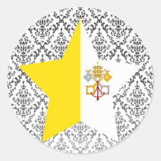 Vatican+City Star Classic Round Sticker