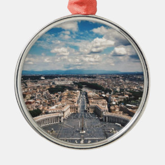 Vatican city top view Silver-Colored round ornament