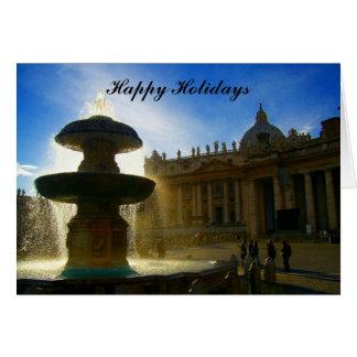 vatican fountain holidays card