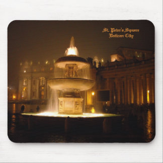 Vatican Fountain Mouse Pad