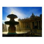 vatican fountain postcards