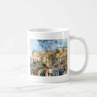 Vatican in  Rome Watercolor Coffee Mug