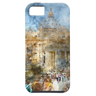 Vatican in  Rome Watercolor iPhone 5 Covers