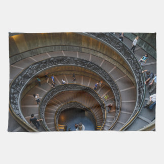 Vatican Museum Spiral Staircase near Rome Italy Kitchen Towel