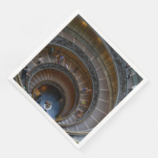 Vatican Museum Spiral Staircase near Rome Italy Paper Napkin