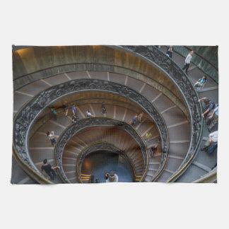 Vatican Museum Stairs Kitchen Towel
