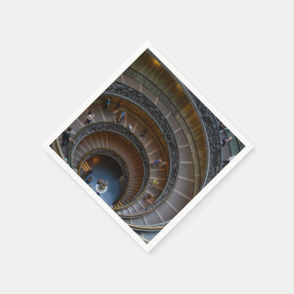 Vatican Museum Stairs Paper Napkins